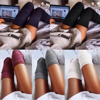 Mode Femmes Dames Filles Hiver Chaud Bas Chaussettes Hautes Long Bas