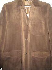 USED Mens Dark Brown Weekender Jacket  3 Button Size 46 L