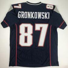New Rob Gronkowski New England Blue Custom Stitched Football Jersey Size Mens Xl