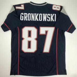 Gronkowski Rugby Jersey Men-Patriots 87# Adult Camiseta de Manga Corta Deportiva de f/útbol Americano para Hombre Camiseta de Malla de Local