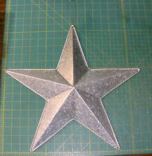 NEW~Large Galvanized 3-D Barn Star Wall Hanging Rope Edge Detail Farmhouse