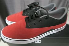 DC Sultan S Skate Shoes Mens Size 10.5 Red/Black FREESHIPPING