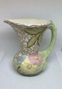 Marked Longton England 3091 James Kent Floral Gold Tiny Bud Vase Toothpick Holder