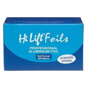 HI LIFT FOIL 300 METRES 18 MICRON SILVER STRONG HAIR COLOURING HAIR COLOUR
