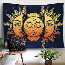 USA Hippie Mandala Sun Face Tapestry Art Psychedlic Wall Hanging Throw Tapestry