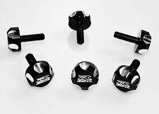 GSXR GSX-R 600 750 1000 1100 WINDSCREEN FAIRING BODY SCREWS BOLTS  5MM BLACK SG