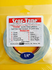 "BULK 5 Rolls of Scor-Tape Adhesive 1/4"" x 27yd by Scor-Pal -  FREE SHIPPING!!!"