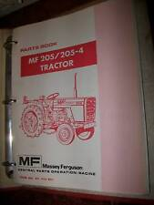 Massey Ferguson tracteur 205 : parts book 1979/1983