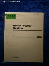 Sony Bedienungsanleitung HT BE1 Home Theater System (#3430)
