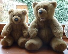 2 OURS - ASSIS - BOUCHE OUVERTE - TEDDY - BEAR