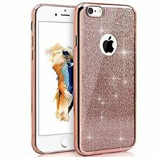 Rose Gold Bling Glitter Detachable Ultra Thin Gel TPU Case For iPhone 5 5S SE