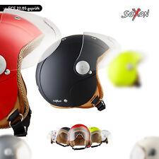 Soxon Sk-55 Color Hands - Casco Demi-jet Urbano Moto Helmet Scooter ECE Bambini XXS (49-50cm)