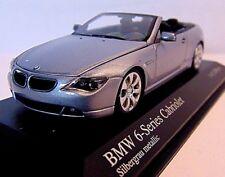 BMW 6- Serie Cabrio * 206 silber* 1:43 * MINICHAMPS 431026031