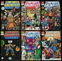 Infinity Gauntlet Comic Set 1-2-3-4-5-6 Jim Starlin Thanos George Perez Ron Lim
