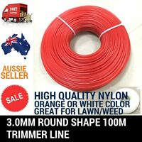 3.0MM 100M TRIMMER LINE WHIPPER SNIPPER CORD WIRE BRUSH CUTTER BRUSHCUTTER NYLON
