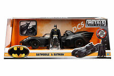 Jada 1989 Batman Batmobile Diecast Metal With Batman Figure 1/24 Diecast 98260