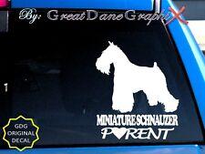 Miniature Schnauzer PARENT(S) - Vinyl Decal Sticker / Color Choice -HIGH QUALITY