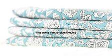 Indian Fabric Cotton Cloth Dress Material 5 Yard Tunic Floral Print Hand Block