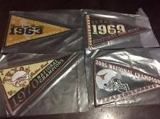 TEXAS LONGHORNS Set of 4 1963, 1969, 1970, 2005 National Championship Pennants