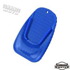 Motorcycle Blue Foot Kickstand Pad Side Stand Base Plate Decals or Yamaha Honda