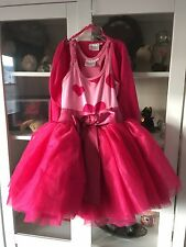 Ooh La La Couture Heart ❤💕 Tutu Dress & Jacket Girls Size 5 / 6x/7 Euc