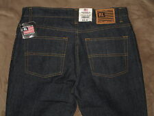 Ralph Lauren Size 10 X 32 Low Rise Flare Dark Blue Denim Womens Jeans NWT