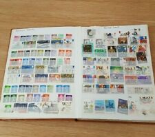 Stamp Album approx 1000 Stamps UK, Germany, Hungary, Russia, worldwide