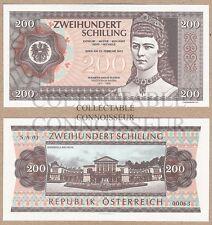 Austria 200 Schilling 2015 NEUF UNC Uncirculated SPECIMEN Test Note Banknote