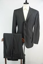 Polo Ralph Lauren Made in Italy Charcoal Gray Pinstripe Super 100s Wool Suit 44R