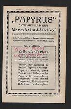 MANNHEIM-WALDHOF, Werbung 1921, Papyrus AG Zellulose-Papiere
