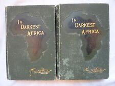 Stanley's In Darkest Africa. Quest, Rescue & Retreat of Emin… 1890 1st Edition