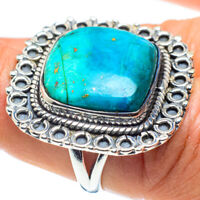 Chrysocolla 925 Sterling Silver Ring Size 7.75 Ana Co Jewelry R58608F