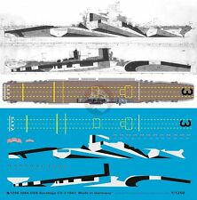 Peddinghaus 1/1250 USS Saratoga (CV-3) Aircraft Carrier Markings 1943 WWII 3284