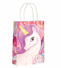 6 Unicorn Bags With Handles - - Luxury Party Treat Sweet Loot Lunch Gift