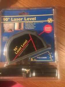 90* Laser Level Double Bubble Levels Dual Beam Horizontal Or Vertical Adjust NEW