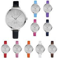 Simple Women Fashion Leather Band Analog Quartz Round Wrist Watch Casual Watches