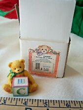 Vintage Cherished Teddies T Is For Teddies Bear With Abc C Block Free Shipping