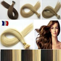 25 50 100 150  EXTENSIONS CHEVEUX POSE A CHAUD NATURELS REMY 49 cm 0,5G/1G AAA