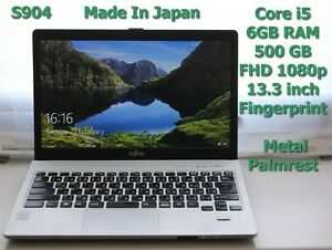 """Japan Made FHD FUJITSU Lifebook S904 Core i5 13.3"""" 500GB 6GB Excellent Battery"""