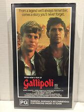 VHS Tape Gallipoli Mel Gibson Mark Lee PG PAL Aussie SELLER