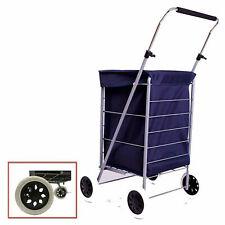 Nuevo 4 bolso de la carretilla de movilidad de Compras Plegable De Rueda Carro Mercado Lavandería Azul Marino