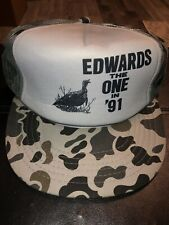 Edwin Edwards the One in '91 Louisiana Governor Political Campaign Camo Hat
