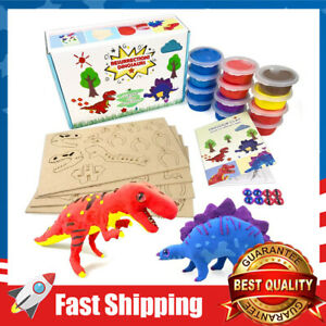 Clay Dinosaur Figures Kids Arts & Crafts Toys Boys Girls Gifts for Age 5 -12