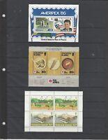 3 MNH Solomon Islands Souvenir Sheets CV $9.50 NICE!!!