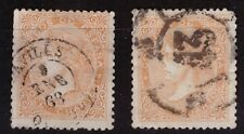 ESPAÑA. 1867. 2 X EDIFIL 89. USADOS. BIEN CONSERVADOS