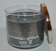 BATH & BODY WORKS BLACK TIE SCENTED CANDLE 3 WICK 14.5 OZ LARGE SAGE SANDALWOOD