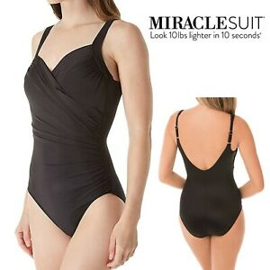 Size UK 20 Miraclesuit Sanibel Underwired Swimsuit 364163 Black RRP £165