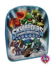 Skylanders Gigantes Spyros Adventure Mochila Bolso Escolar De Plata Azul Nuevo