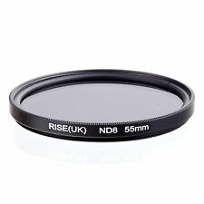55mm Neutral Density ND8 Filter for Canon Nikon Sony Fuji Samsung Lens