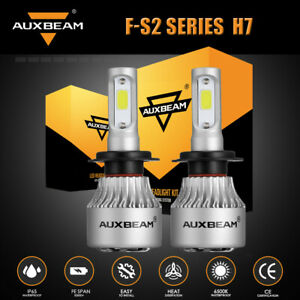 AUXBEAM S2 H7 LED Headlight Super Bright Replace Bulb 6500K 8000LM High/Low Beam